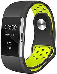 Fitbit Charge 2 Armband,Teorder Verstellbarem Silikon Weiches Atmungsaktives Fitness Sport Uhrenarmbänder Austauschzubehör Armbänder für Fitbit Charge 2 ,klein / groß