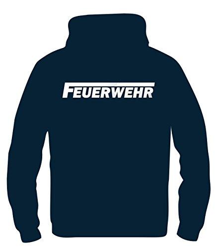 Kinder Sweatshirt Mit Kapuze (FEUERWEHR reflektierender Druck Kinder Sweatshirt mit Kapuze HOODIE Dunkelblau, Gr.152cm)