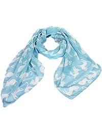 Accessoire pour Femmes Calonice Amorino écharpe bleu foncé avec un imprimé chats élégamment conçue Taille unique 180x0.1x96 cm (LxHxl) 27400