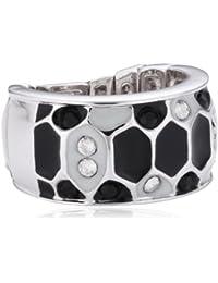 0635cf19a536 Guess – Anillo de acero para mujer – Color plateado y negro – UBR91309-S