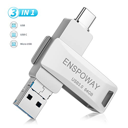 ENSPOWAY USB C Stick 64GB 3 in