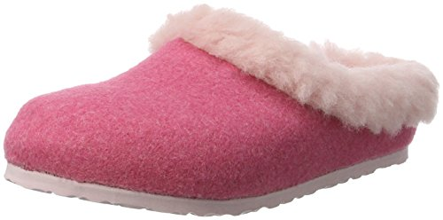 Birkenstock Kaprun, Sabots Fille Rose (Pink Happy Lamb Rose)