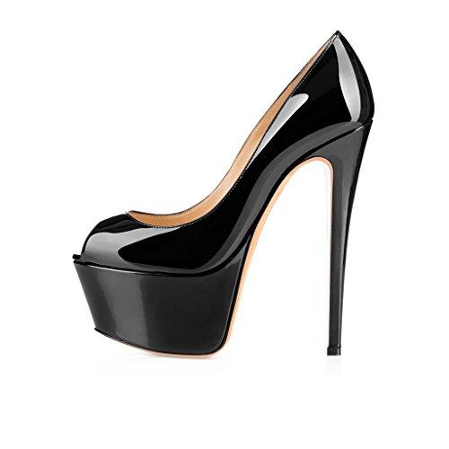 elashe - Femmes - Stiletto Sexy - Semelle compensée 5...