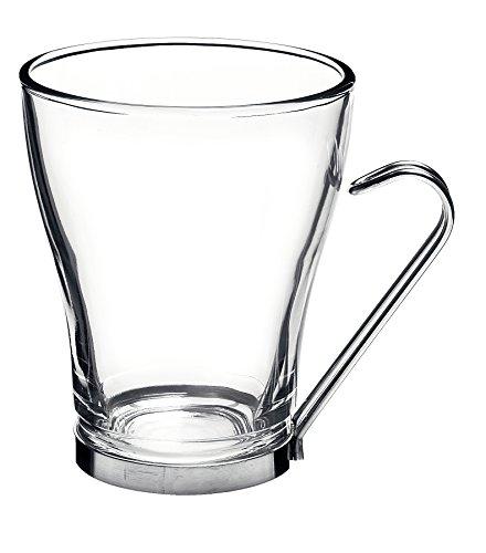 Bormioli Rocco Oslo Cup 328ml con mango de metal, endurecido, 6 copas