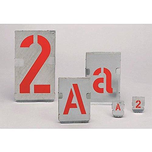 LEMAX® Signierschablonen Großbuchstaben-Satz: A-Z Schrifthöhe: 70mm, Zinkblech