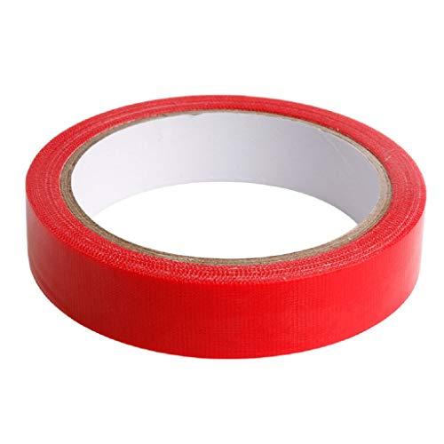 SMALLJUN Doppelseitiges Tuchuntergrundband Starkes festes durchscheinendes Maschentuch Doppelseitiges Klebeband Wasserdichter Joint-Teppich Verschleißfestes Klebeband 2cmx10m Rot (Teppiche 10x10)