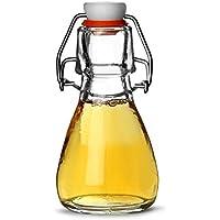 Genware Swing de cristal para botellas 50 ml - juego de 6 - botella para con Air-espacios con aro de caucho