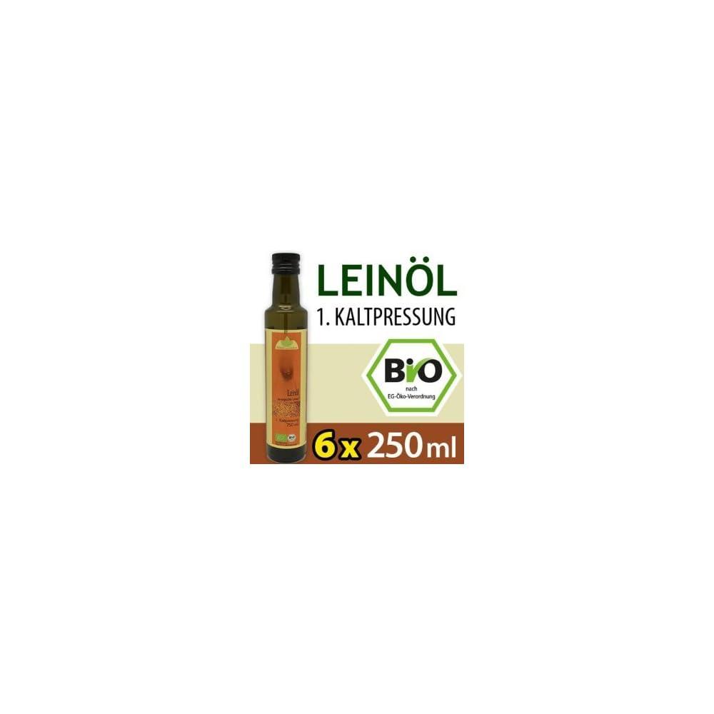 Vorteilspaket Bio Leinl Kaltgepresst 6 Flaschen 250 Ml Kba Versandkostenfrei