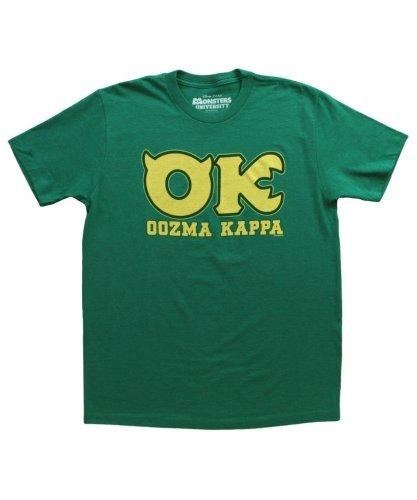 Disney Monsters University Ok Oozma Kappa Member Erwachsene grün T-Shirt (Small) (Disney T Shirts Für Erwachsene)