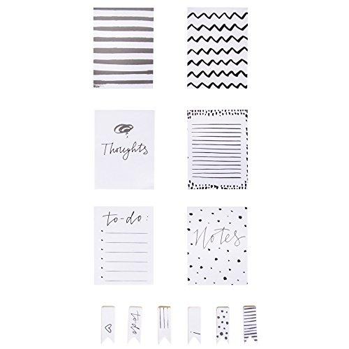 RAYHER Notizzettelchen, 6 Blöcke und selbstklebende Post-It's, 30 Blatt