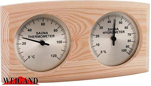 Weigand NELINPELI Thermometer - Hygrometer Kombination I Nachjustierbar I Nebeneinander angeordnet I...