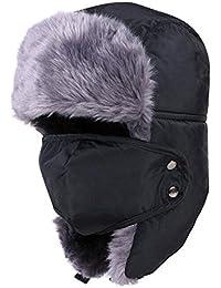 Q.KIM Unisex Sombrero de invierno Sombrero de felpa Sombrero a prueba de viento Sombrero caliente Gorro antipolvo Sombrero de Esquí Ciclismo