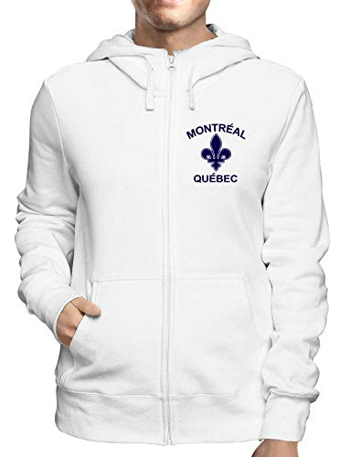 Montreal Zip (Sweatshirt Hoodie Zip Weiss TSTEM0064 Montreal Quebec 1)
