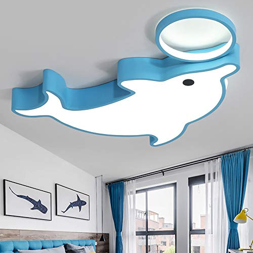 Kinderzimmer-kronleuchter Schattierungen (Kronleuchter Delphin Kinderzimmer LED Deckenleuchte Einfache Kreative Cartoon Junge Mädchen Schlafzimmer Licht Baby Zimmer Auge Licht Weißes Licht (Size : 55cm))