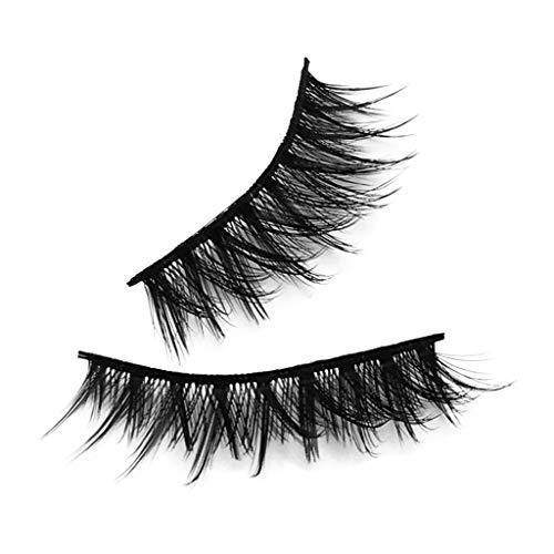 Bauycy 3D Wimpernveloursleder Naturdicke falsche Wimpern 14 Paare, nahtloses natürliches Lockenwickeln, perfekter Make-up-Effekt