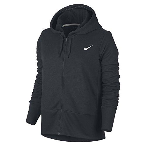 Nike 857563 Sweat-Shirt à Capuche Femme, Noir/Blanc Noir/Blanc
