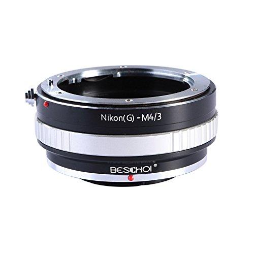 Beschoi Nikon AI(G)-M4/3 Objektiv Adapter für Nikon G AF-S F Objektiv auf Micro Four Thirds M4/3 Systemkamera wie Olympus Pen and Panasonic Lumix Kamera