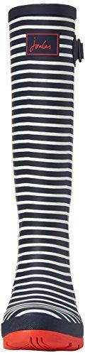 Joules Wellyprint, Bottes de Pluie Femme Blau (Navy Mini Stripe)