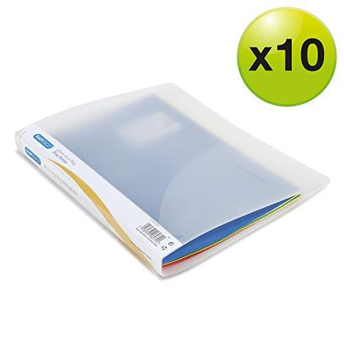 Rapesco 0715 Ringordner Din A4 (10 Stück pro Verpackung, 25 mm) Transparent