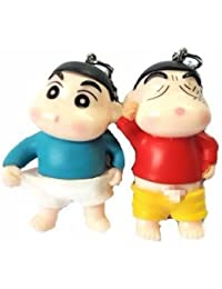 Blue Aura Buy Combo Of 2 Shinchan Keychain Bike Keychain Car Keychain Gifting Action Figure Keychain BLUE & RED