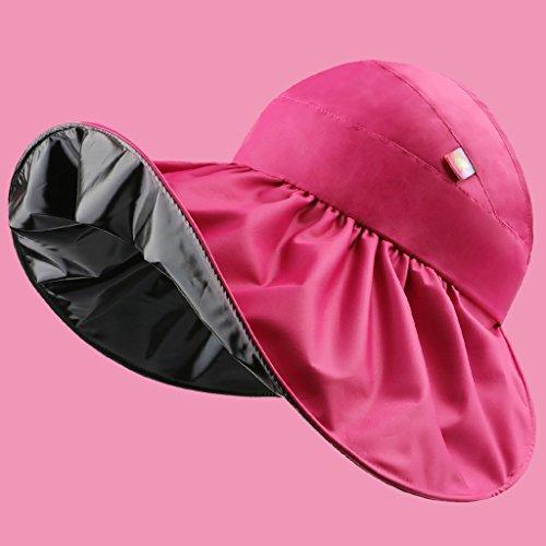 Qingtaoshop cappello da donna estivo da viaggio in visiera per esterno cappello estivo da donna in visiera vinilica (color : pink)