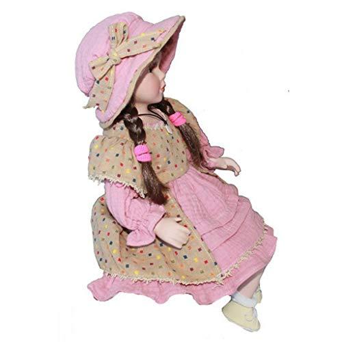 age Elegante Porzellan Puppe Mädchenpuppe im Kleidung Sammler Spielzeug Dekoration - E ()