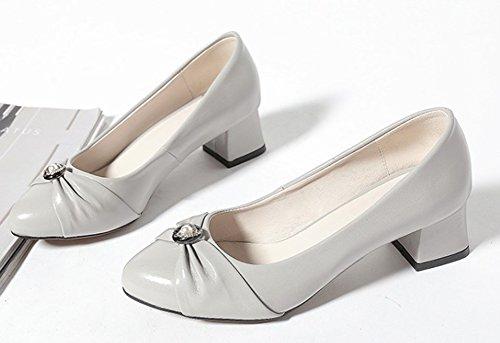Tacco Significa Classica Aisun Grigie Donna Caviglia Con Scarpe Wtwaq0adp