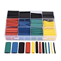 530pcs/set Heat Shrink Tubing Insulation Shrinkable Tube Assortment Electronic Polyolefin Ratio 2:1 Wrap Wire Cable Sleeve Kit