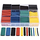 530pcs/set Heat Shrink Tubing Insulation Shrinkable Tube Assortment Electronic Polyolefin Ratio 2:1 Wrap Wire Cable Sleeve Ki