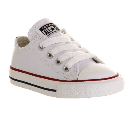 Converse Chuck Taylor All Star Infant White Leather 19 EU (Baby Sneakers Converse)
