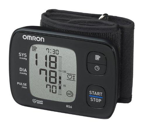 OMRON RS6 Misuratore di Pressione da Polso, Sensore di Irregolarità Cardiaca, Sensore di Movimento Durante la Misurazione e Posizionamento, Nero