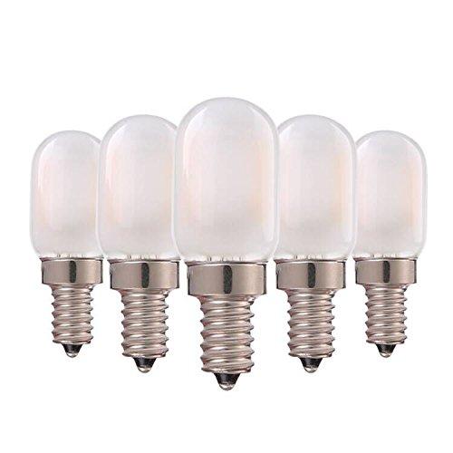 Genixgreen LED-Kerzenleuchter, Milchglasabdeckung, 1W T22 E14 Kerzenleuchter Vintage-Röhrenform Nachtlichtbirne Warmweiß 2700K, 10 Watt Äquivalent Nicht dimmbar, 5er-Pack -