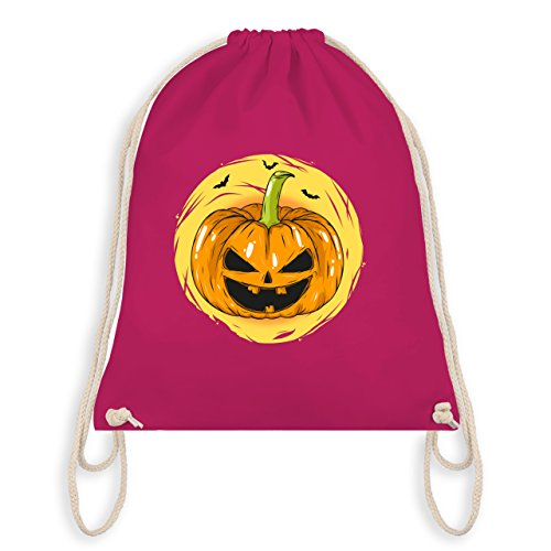 Halloween - Halloween Kürbis Gesicht - Turnbeutel I Gym Bag Fuchsia