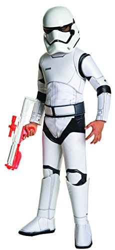 Kinder Stormtrooper deluxe 3-tlg Overall Gürtel Maske weiß - L (Rubies Star Wars Kostüm)