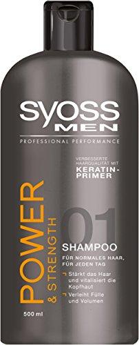 Syoss Men Power Shampoo, 6er Pack (6 x 500 ml)