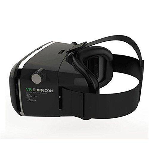 """COOVOO Universal 3D VR Einstellbar Virtual Reality Brille Karton Video Movie Game Brille virtuelle Realität Glasses für 3.5""""-6"""" Android IOS Iphone Samsung Galaxy Note Huawei serie(mit Bluetooth -Fernbedienung)"""
