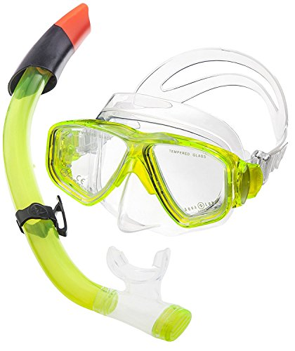 Aqua Lung Tauchset La Costa Pro (Tauchmaske, Schnorchel & Netzbeutel) - Lime Power