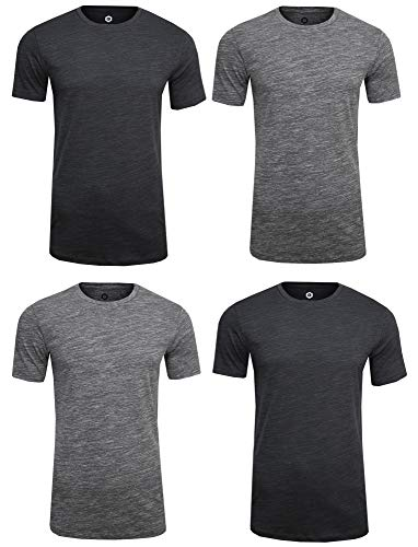 JACK & JONES Media Tee Freizeit/Sport/Club T-Shirt (4er Set Mela,XL) -