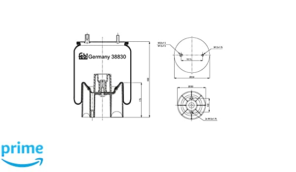 Pack of 1 febi bilstein 38830 air spring with plastic piston