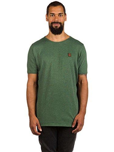 Naketano Male T-Shirt Bumsebumse Shirt IV pine green melange