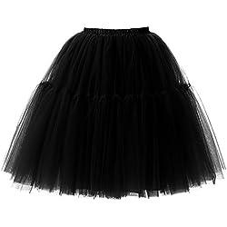 Falda de Tul de Princesa de la Doble 50s de la Vendimia Traje de Falda de Disfraz Mujer Enagua Ballet Pettiskirt Vestido de Rockabilly con 6 Capas