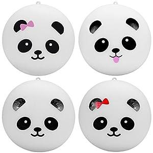Lance Home 4pz Kawaii 10 cm Panda Espressione Morbido Simulata adorable espressione Pendenti Portachiavi Portachiavi Telefono Catena Ornamenti Cinghie Accessori Stile Casuale