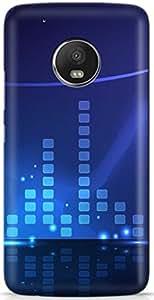 PCM High Quality Printed Designer Polycarbonate Hard Back Cover for Motorola Moto E4 Plus - Matte Finish - Color Warranty -1497