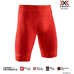 X-Bionic The Trick 4.0 Run Shorts, Hombre, namid Red/Sunset Orange, S