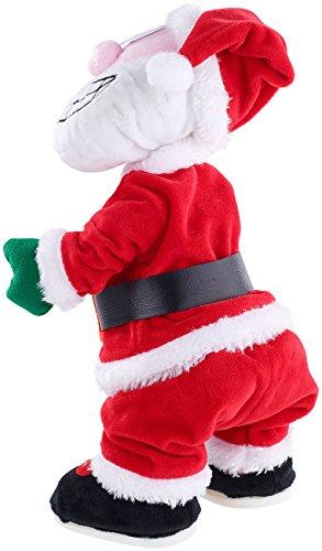 infactory Tanzender Weihnachtsmann: Singender und twerkender Weihnachtsmann, 30 cm (Weihnachsdeko)