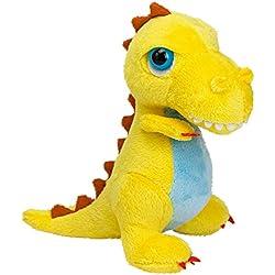 Suki Gifts International T-Rex Dinoz Dinosaurio suave de peluche (tamaño pequeño), color amarillo