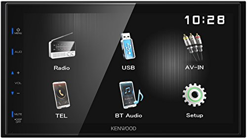 Kenwood DMX110BT 17, 3 cm WVGA Digital Media Receiver mit Bluetoothmodul Schwarz -