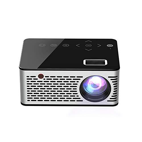 ZYG.GG Projektor, verbesserter 2400-Lux-LCD-Videoprojektor mit Tragetasche, tragbarer 1080P-Mini-Multimedia-Filmprojektor, ideal für Heimkino-Unterhaltungsspiele