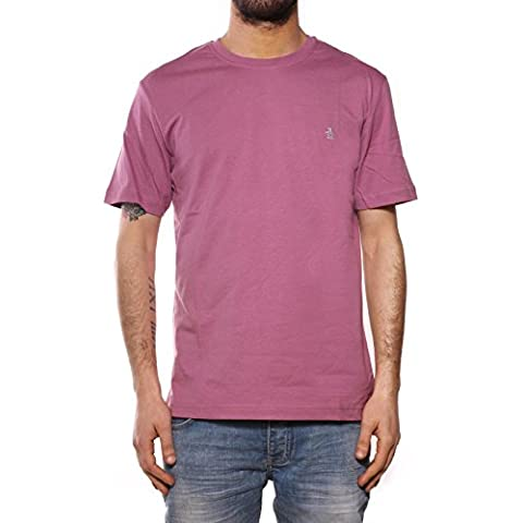PENGUIN - PIN POINT EMBROIDERY TEE GRAPE NECTAR