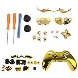 Baoblaze Set de Coque de Protection pour Manette Xbox One Elite + Boutons Thumbsticks de Remplacement Complets + Tournevis T8 T6